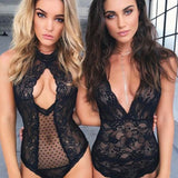 New Sexy Womens Stretch Bodysuit Sleeveless Lingerie Lace Leotard Backless Bodysuits