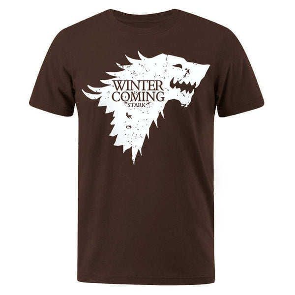 Men's T-shirt Stark Tops Winter Is Comming Male T-shirt Game of Thrones Men T-shirts Casual Men Tshirt Top Summer Tees