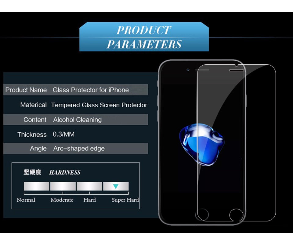 Protective tempered glass for iphone 6 7 6 6s 8 plus 11 pro XS max XR glass iphone 7 8 x screen protector glass on iphone 7 6S 8