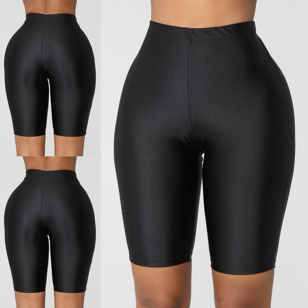 Women Skinny Running Sports Short Leggings Compression Fitness Strechy Solid Pure Color Skinny