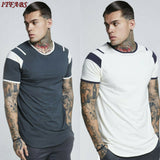 Men's Slim O Neck Short Sleeve Muscle Tee Shirts Casual T-shirt Tops
