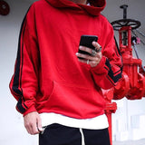New brand Kanye West Hoodie Streetwear Hip Hop stripe Hooded Hoody Mens Hoodies Sweatshirts Oversized size tops