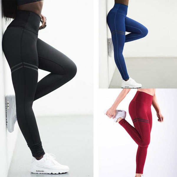 Women High Waist Anti-Cellulite Compression Slim Leggings for Tummy Control and Running KS-shipping