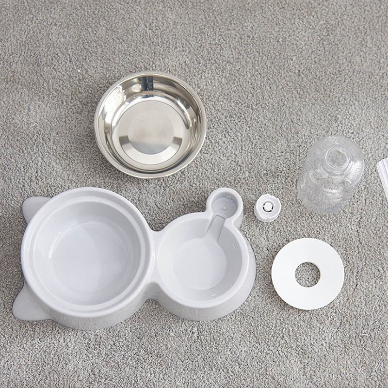 Automatic Pet Feeder Water Dispenser Cat Dog Drinking Bowl Dogs Feeder Dish Cat Feeding Watering Supplies