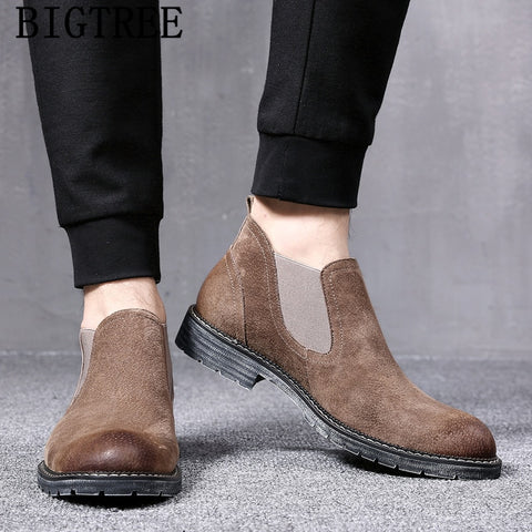 men boots genuine leather chelsea boots men winter shoes italian shoes ankle boots men luxury designer shoes