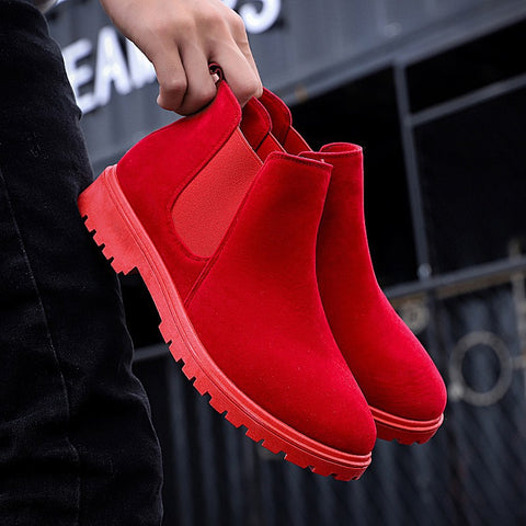 Men Shoes Ankle Boots Men Cow Suede Leather Boots for Men Trendy Autumn Shoes Bota Masculina