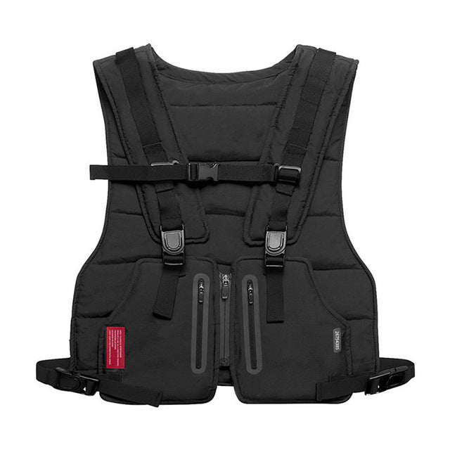 Multi-function Tactical Vest Outdoor Sports Fitness Men Protective Tops Vest
