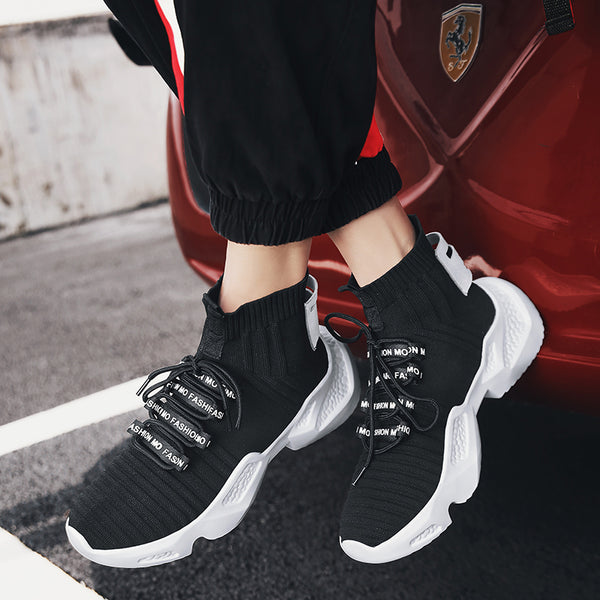 Hemmyi Men Running Shoes Chaussure Homme Spring Design Thick Soles Jogging Fitness Breathable Outdoor Sport Shoes Sneakers Men