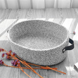 Desktop Woven Cotton Rope Storage Basket Thickened Cotton Simple Snack Cosmetics Box Blanket  Laundry Toy Storage Basket