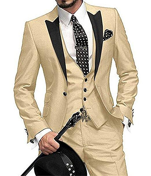 One Button Black Polka Dot Groom Tuxedos Shawl Lapel Groomsmen Mens Wedding Prom Suits (Jacket+Pants+Vest+Tie)
