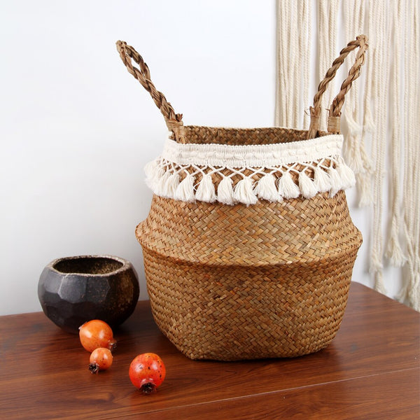 Nordic Style 100% Handmade Fabric Storage Basket   Bathroom Organizer Basket Use for Storage or Plant
