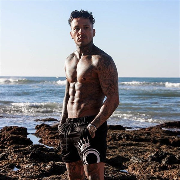 New Men Gyms Fitness Bodybuilding Shorts Mens Summer Casual Cool Short Pants Male Jogger Workout Beach Brand Breechcloth