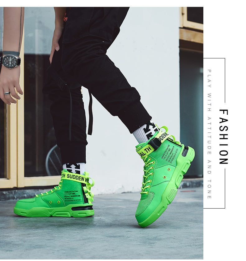 Leader Show Men Casual Shoes Brand Men Fashion Shoes High Top Outdoor Sneakers for Men Leisure Shoes Non-slip Zapatillas Hombre