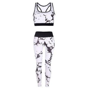 Gym Clothing Fitness Activewear Yoga Set Women Sportswear Sleeveless Bra+high Waist Leggings Quick Dry Workout High Elasticity