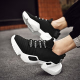 New Spring Ins Trend Sport Shoes Man Socks Shoes Running Shoes For Man Outdoor Flying Weaving Non-slip Heighten Dad Sneakers