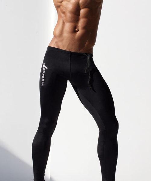 Mens Compression Pants Tights Joggers