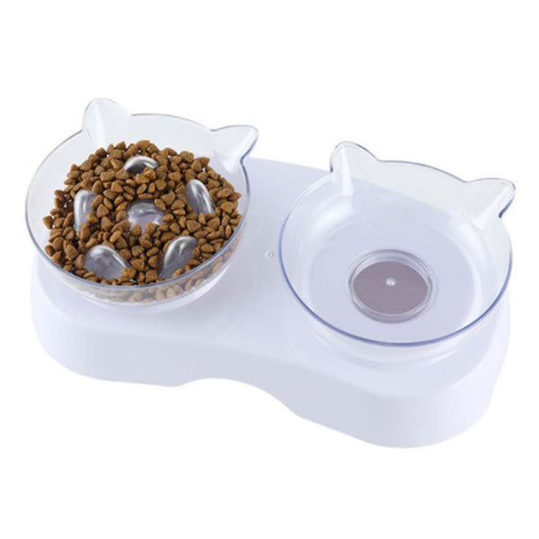 Cat Bowl Pet Automatic Drinking Water Bottle Cats Feeder Bowls Transparent Feeding Cat Food Bowl For Cats Dogs Pet Supplies