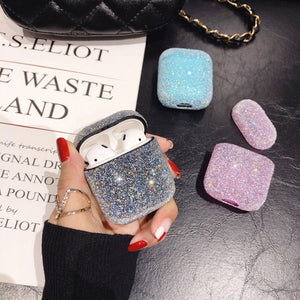 AIRPODS SPARKLING POWDER SILICONE CASE COVER