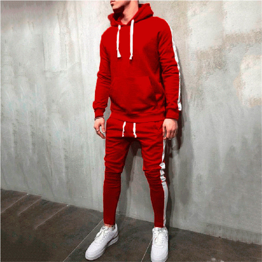Men Sports Suits Sweatshirts Hoodie Streetwear Hip Hop Tracksuit Gym Jogging Suits Sportswear Training Pants Run Fitness Clothes
