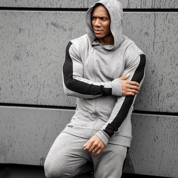 Tracksuits Mens Running Sportswear Suits Sweatshirt Sweatpants Gym Fitness Training Hoodies and Pants Sets Male Jogging Clothing