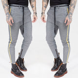 Casual Men's Skinny Pants Fashion Plaid Striped Pants Men Trousers Hip Hop Jogger Pants Ankle Length Men Sweatpants Streetwear