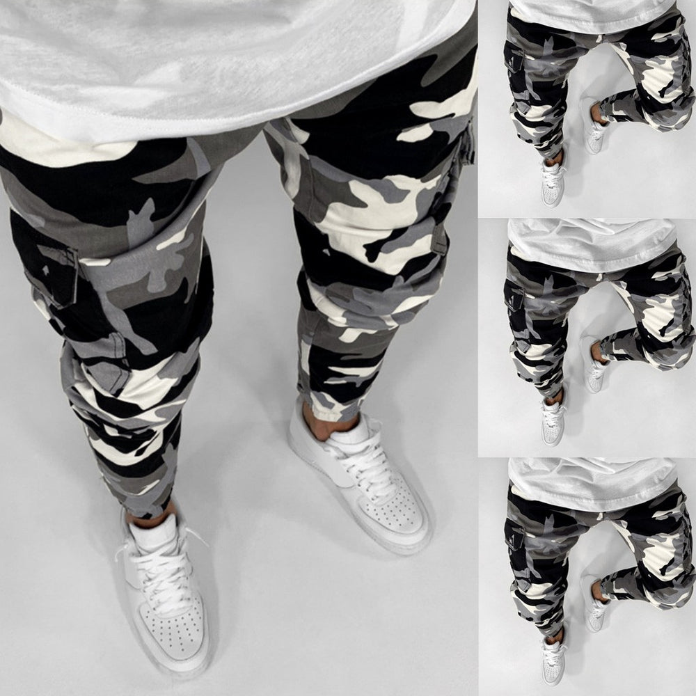 Men Camouflage printed Streetwear Slim Stretch Straight Jeans man Fashion Cotton Jogger Casual Denim Trousers Plus Size