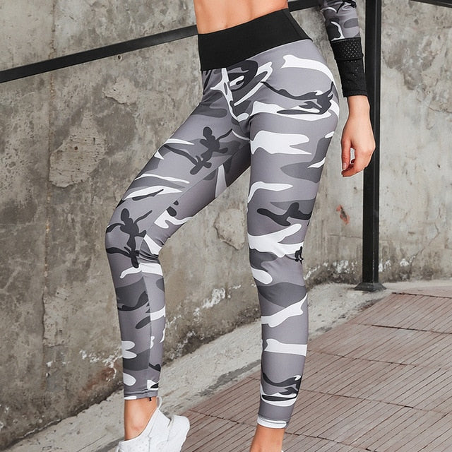 Camouflage Seamless yoga set Fitness Sports Suit GYM Cloth Yoga Long Sleeve Shirt High Waist Running Legging Workout Pants Shirt