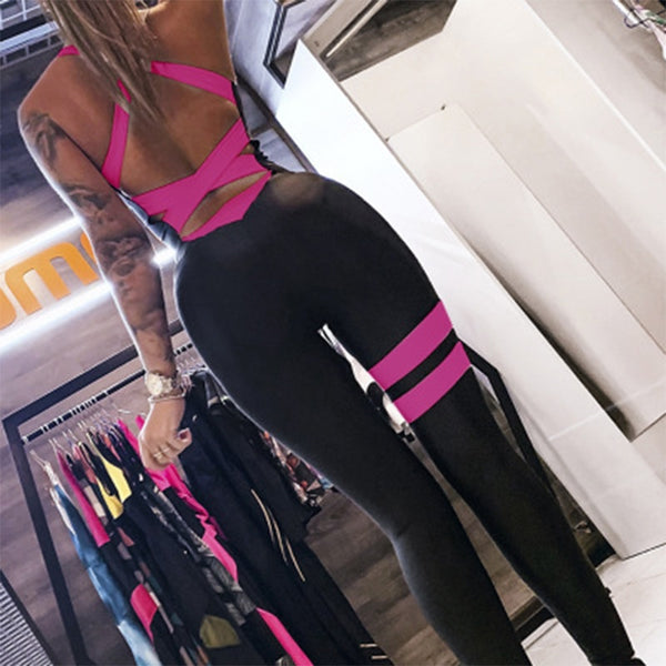 Active Women Yoga Jumpsuit Female One Piece Sports Pants Sexy Backless Workout Clothes Mujer Fitness Running Gym Sport Clothes