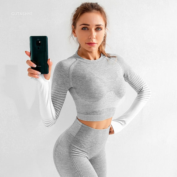 GUTASHYE 2 piece set women yoga set sports wear for women gym gym clothing fitness clothing gym set sport clothes for women