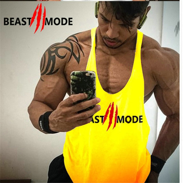 Gym fitness vest sports men's exercise vest sleeveless shirt cotton muscle vest sweatshirt running vest T-shirt