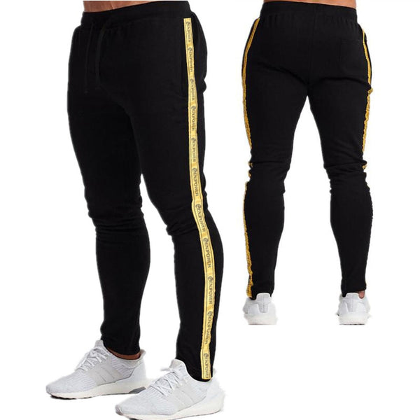 Tracksuit Men's set Sports Running Two Piece Sets Cotton Hoodie & Jogging Pants Men Winter Autumn Fitness Side stripe Sport Suit