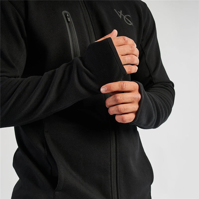 Jogger casual streetwear fashion men's clothing 2019 new men's sportswear trousers + hoodie fitness cotton men's suit