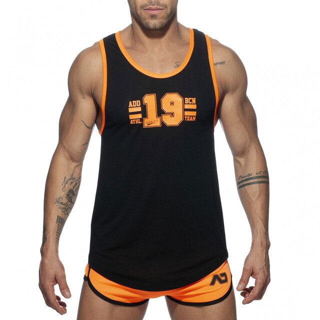 Mens Sportswear Set Training Quick Dry Sport Tank Tops+Running Shorts Sets for Gym Fitness Bodybuilding Running Jogging Swimming