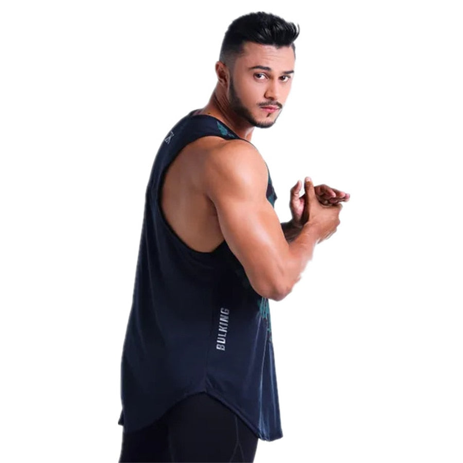 Brand Gyms Clothing Singlet Tank Top Men Fitness Stringer Vest Camouflage stitching Bodybuilding Sleeveless shirt Muscle Tanktop