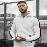 Winter Fashion zipper Hoodies Men Casual Hooded Warm Sweatshirts Male Thicken Tracksuit  Jacket+Pant Men Moleton Masculino