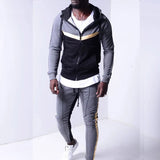 Two Piece mens tracksuits Set Sportswear Casual Winter Warm Hooded Tracksuit Men Trendy Jogger Trousers Male Brand