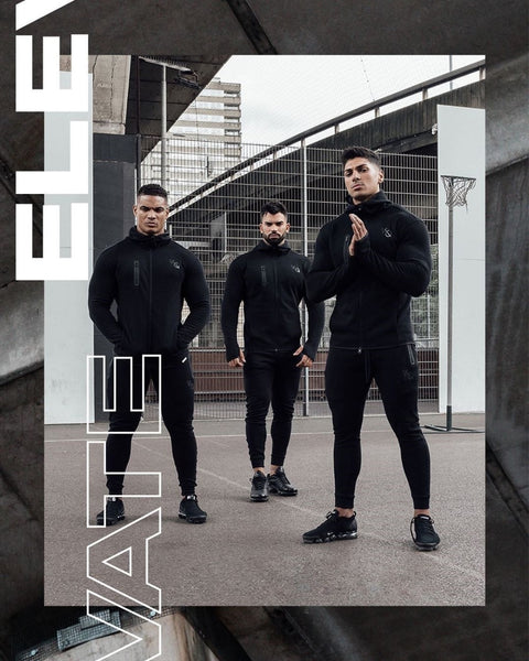 Men's Fashion Running Set Patchwork Hoodie Sweatshirt And Sport Pants Gym Fitness Set Male Jogging Exercise Sport Set
