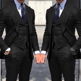 Newest Wedding Tuxedos Fashionable Suits For Men 3Piece Wedding Groom Tuxedos Custom Made  Business Suit(Jacket+Pants+Vest)