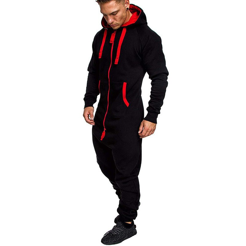 Camouflage Fleece Warm Tracksuit Men Zipper Fashion Workout Black Jumpsuits Men Tracksuits Hoodies Winter Hip Hop Clothing