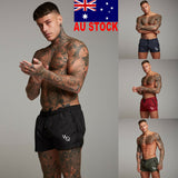 AU Fashion Mens Shorts Summer Swimwear Trunks Swim Beach Pants Sports Boxer Hot