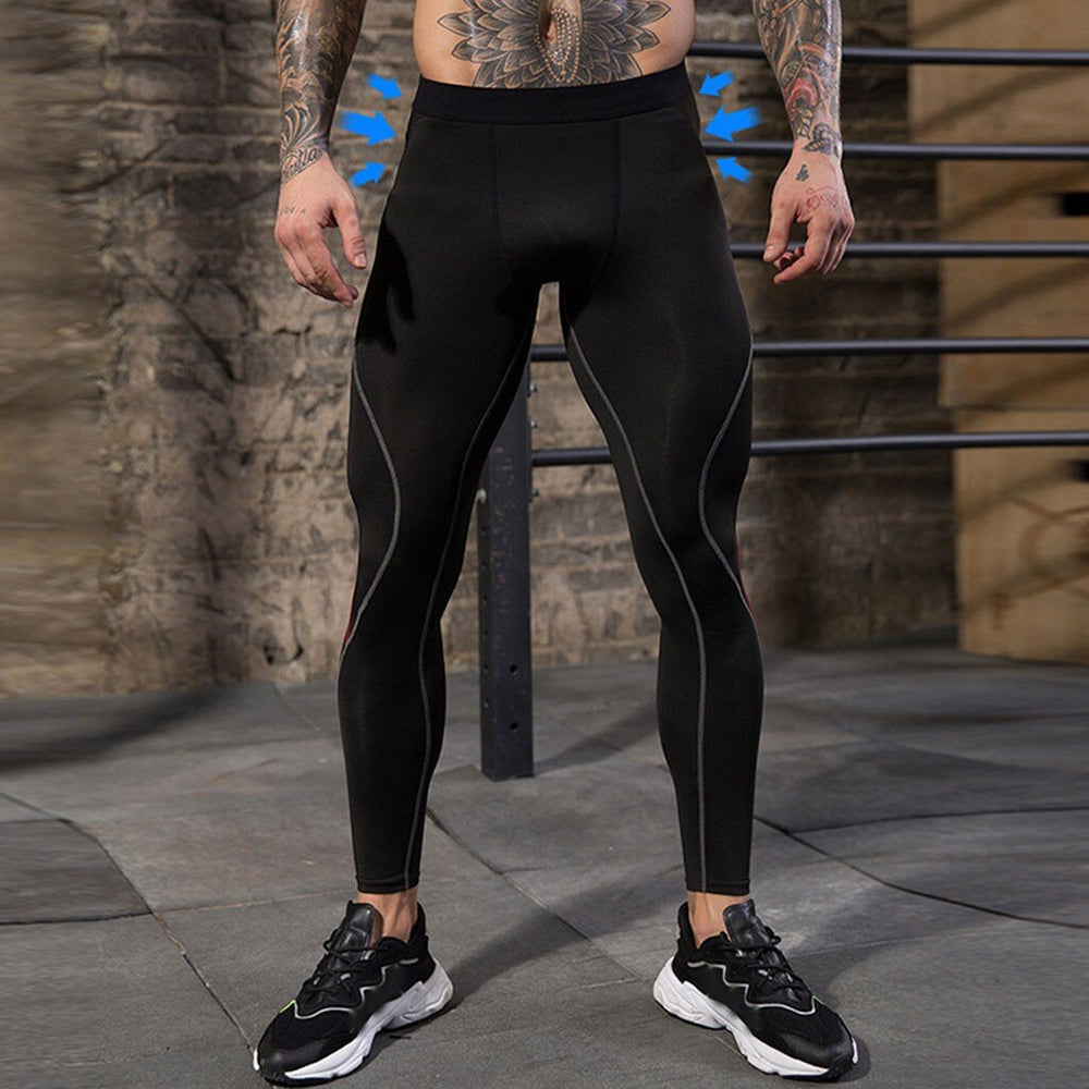 Compression Pants Mens Leggings Tights Men Sport Pants Fitness Sports Leggings Man Running Pants Compression Men Striped Pants