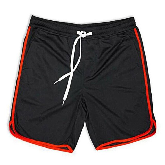 Black Mesh Gym Shorts Men Summer Fashion Fitness Wear Beach Men Short Pants Streetwear Loose Quick Dry Bodybuilding Shorts