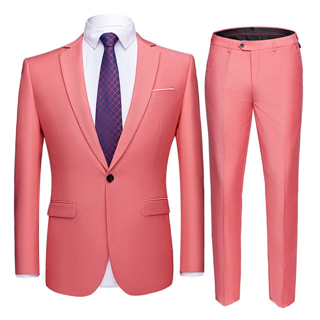 Shenrun Men Suits 2 Pieces Jacket Pants Business Uniform Office Suit Wedding Groom Tuexdo Slim Fit Single Button Casual Formal