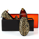 Leopard Printed Men Dress Shoes Slip On