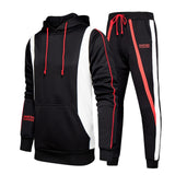 Stripe Tracksuits Men's Sportswear Set  Autumn Winter 2 Pieces Sweatshirt+Pants Suit Brand Men Jogging clothes sports suit