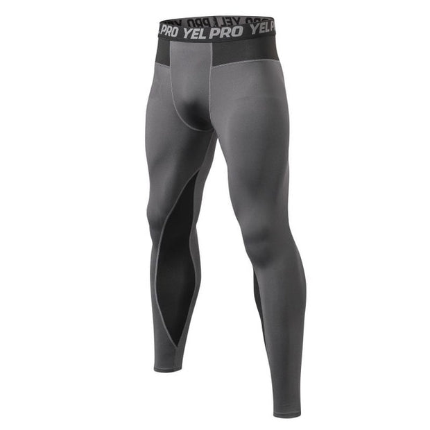 Men Fitness Running Tights High Elastic Compression Sports Leggings Sports Breathable Quick Dry Gym Ankle Length Pants