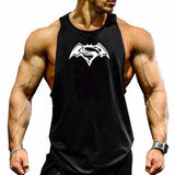 Fashion brand fitness clothing fitness men's cotton vest men's bodybuilding sweatpants vest fitness undershirt sleeveless shirt