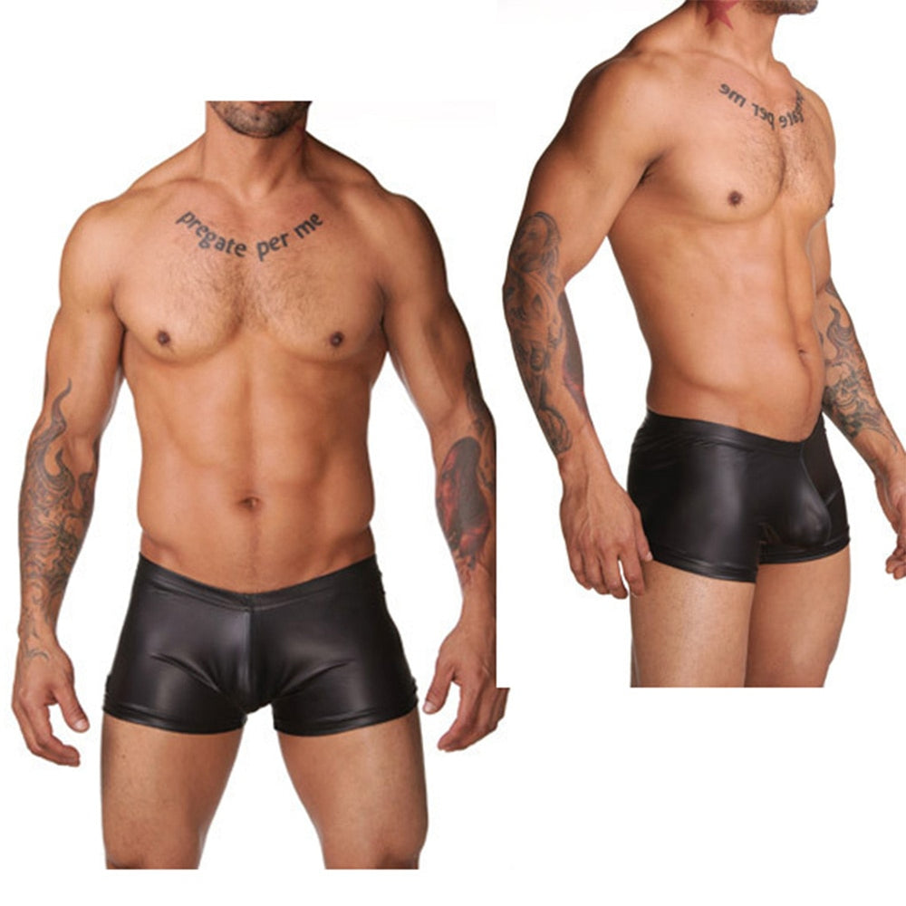 Men Summer Swimwear Male Underwear Mens Leather Boxer Shorts Plus Size Pants for Man