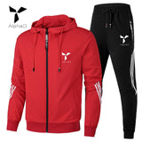 Spring Autumn Men Tracksuit Cotton 2 Piece Set Sweatpants Track Suit Sweatsuit with Hooded Long Sleeve Sprited Set Oversize