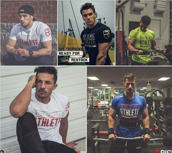 Gold Crossfit Men's T Shirt Printing Bodybuilding